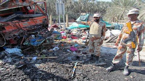 Twenty killed as truck collides head-on with minibus in Pakistan