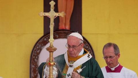Pope Francis warns against 'revenge' in Myanmar mass