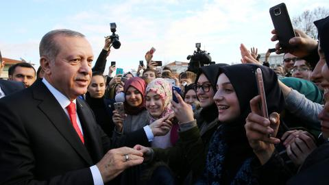 President Erdogan meets Turkish minority in eastern Greece