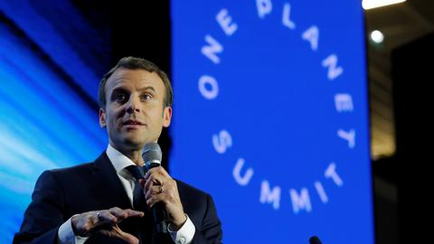 Macron says world losing battle against climate change
