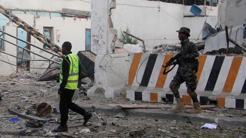Suicide bomber kills at least 17 at police academy inMogadishu