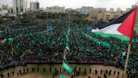 Hamas marks 30th anniversary of its founding with rally in Gaza