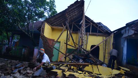 Strong quake hits Indonesia's Java island leaving at least 2 dead
