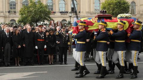 Guests from royal families attend former Romanian king's funeral