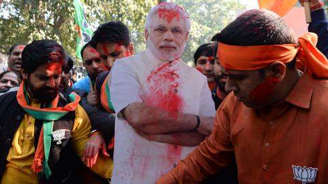 India's Modi declares victory in closely fought Gujarat polls