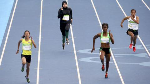 Female Saudi Arabian athlete makes Olympic history