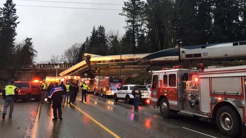 Passenger train derails in Washington state, casualties feared
