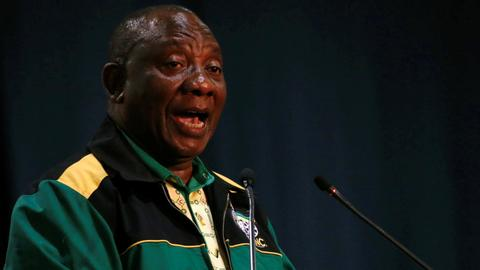 South Africa's new ANC leader Ramaphosa vows to fight corruption