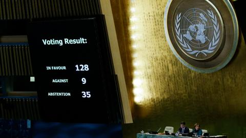 128 countries reject US recognition of Jerusalem as Israel's capital