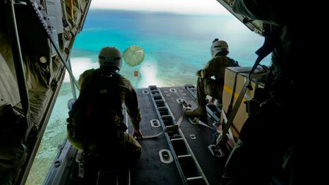 Christmas delivery: remote islands receive humanitarian air drops