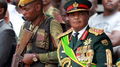 Former Zimbabwe army chief sworn in as vice president