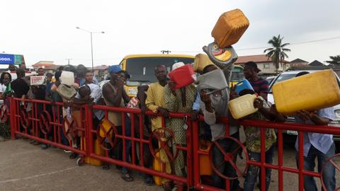 Africa's largest oil producer faces severe fuel shortage