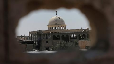 Two mass graves found in Syria's Raqqa