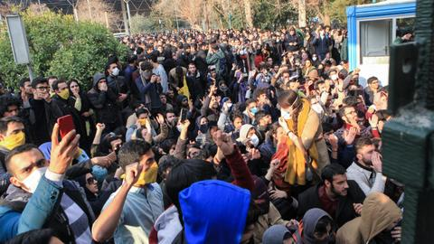 At least two dead as protests in Iran enter fourth day