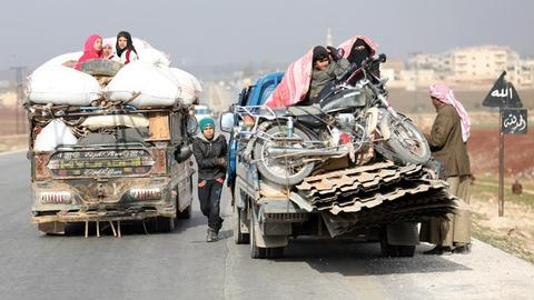 Thousands more displaced as war continues in Syria's Idlib