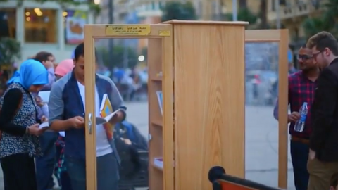 Egypt's street libraries bring books to the public
