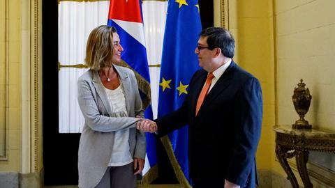 Top EU diplomat meets Cuban president