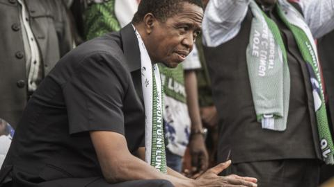 Zambia's opposition challenges President Lungu's re-election
