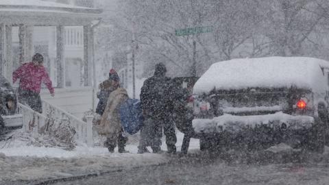 'Bomb cyclone' rocks eastern US killing at least four