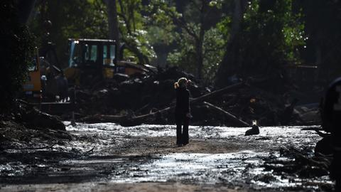 Death toll from California mudslides rises to at least 17