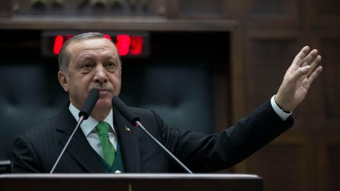 Take a stand against terrorists, Erdogan tells NATO