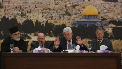 Palestinian leaders call for suspension of the recognition of Israel