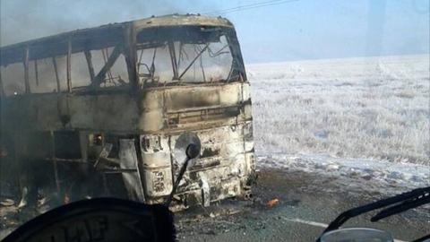 Bus fire kills 52 people in northwestern Kazakhstan