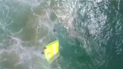 Australian lifesaving drone makes first rescue