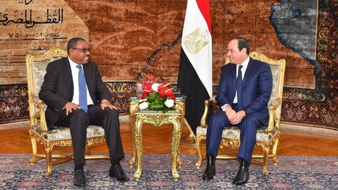 Egypt and Ethiopia agree not to clash over Nile waters