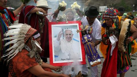 Pope's visit to Peru highlights devastation in rainforest region