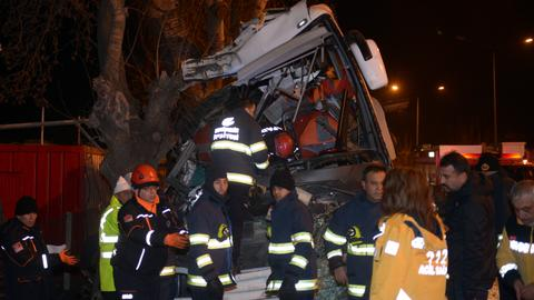 11 people killed in central Turkey bus crash