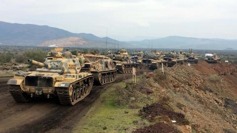 Turkish forces and Free Syrian Army launch ground operation in Afrin