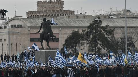 Greeks rally against use of 'Macedonia' in name dispute with Skopje