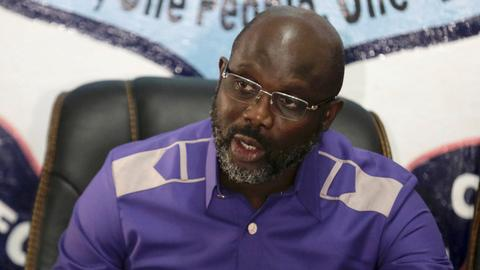 A quick look at George Weah, Liberia's footballer-turned-president