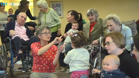 UK nursing home welcomes children