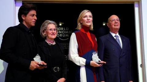 Cate Blanchett, Elton John and Shahrukh Khan receive awards at WEF