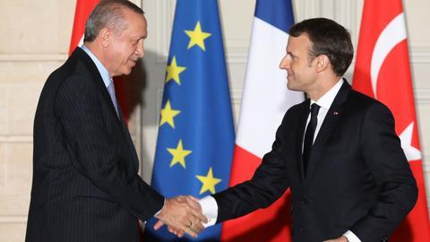 Erdogan, Macron discuss Syria