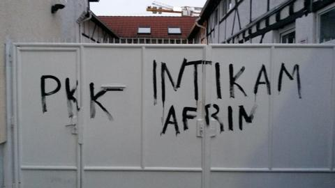 YPG/PKK supporters vandalise mosque in Frankfurt
