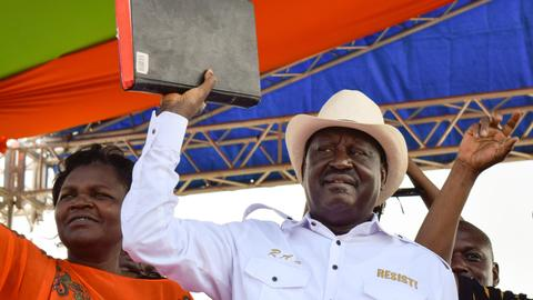 Kenya's opposition swears in Odinga as 'president'
