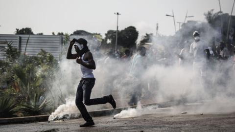 Election results spark violence in Gabon