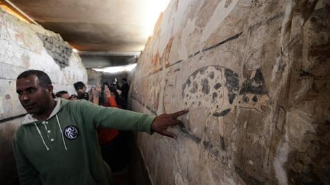 Egypt unveils tomb of ancient priestess