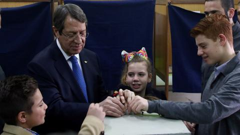Greek Cypriot president wins second term