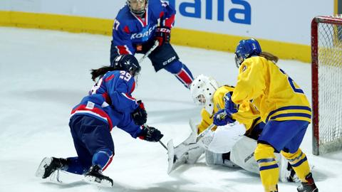 Joint North-South Korea women's ice hockey team loses friendly match