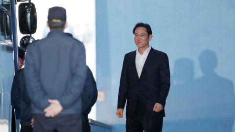 Samsung's heir released after court suspends jail term