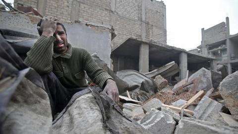Air strikes kill at least 80 civilians in Syria's Eastern Ghouta
