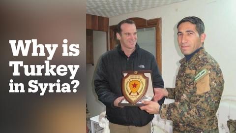 Why is Turkey's military fighting the YPG in Afrin, Syria?