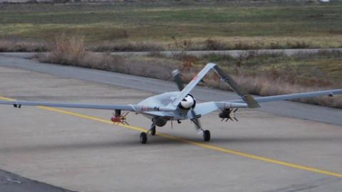 Turkey's first domestically produced armed drone takes off