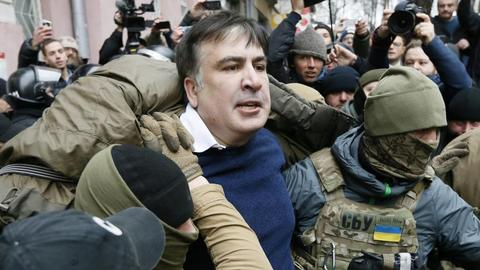 Former Georgian leader Saakashvili deported from Ukraine to Poland