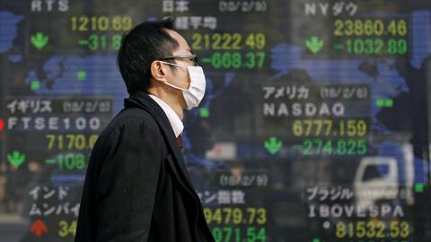 World shares rebound after worst week in two years