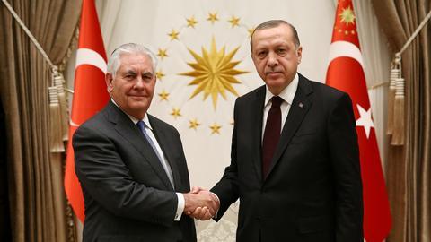 Erdogan tells Tillerson Turkey's regional priorities